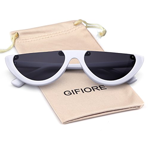 Clout Goggles Cat Eye Sunglasses Vintage Mod Style Retro Kurt Cobain ()
