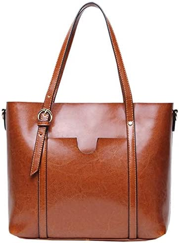 レディースハンドバッグや財布ファッショントップビッグハンドバッグをサッチェルレザーショルダーバッグハンドル 実用的 (色 : Gray, サイズ : Onesize)