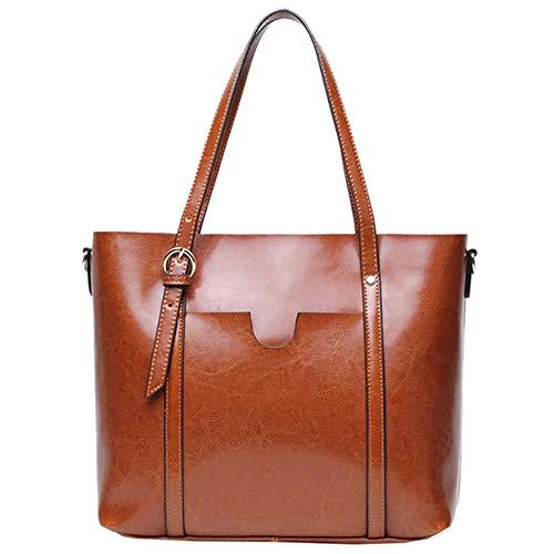 Mxl Women Sacs à main et sacs à bandoulière en cuir véritable avec poignée orange
