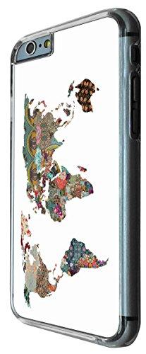 841 - Colorfull tropical world map Design iphone 6 PLUS / iphone 6 PLUS S 5.5'' Coque Fashion Trend Case Coque Protection Cover plastique et métal