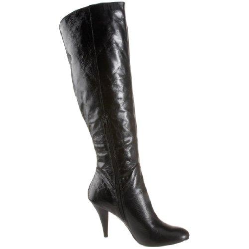 Nine West Women's Trurman Knee-High Boot,Black Leather,10 M US