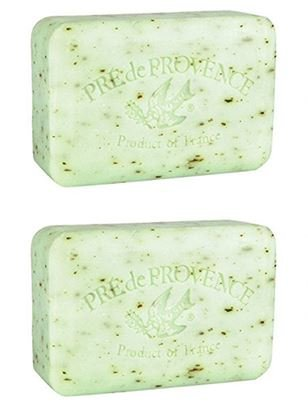 Pré de Provence, Rosemary Mint, Set of 2, Shea Butter Enriched Handmade French Soap Bars, 150 Grams Each