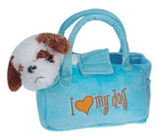 Puppy in A Purse - Soft Plush Fancy Pet Carrier Puppy in a Carrying Bag Toy (Assorted)