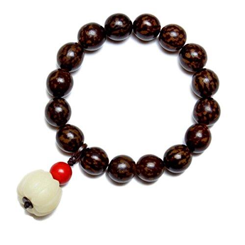 단지 뿌리 엔 주 백색 단지 뿌리 호박 주 朱 모래 뭉치 손 사슬 주 지름 11 mm / Lime tin circle pearl white lime root pumpkin beads red sand jade hand chain 11 mm