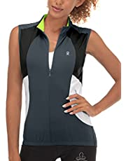 Little Donkey Andy Women's Breathable Cycling Vests Reflective Sleeveless Jackets for Running Golf with 4 Rear Pockets
