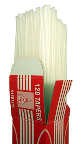 Cathedral Brand Wax Lighting Taper Sticks, 1/8 Inch x 16 Inch, Box of 120