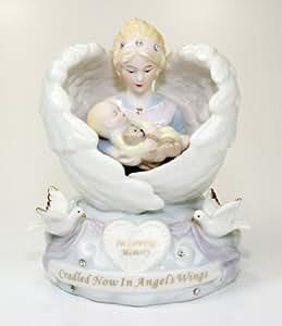 Amazon Com Angel With Baby Figurine Sympathy Condolence