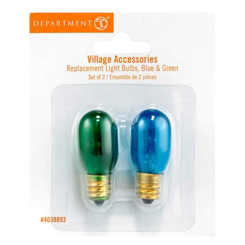 DEPT 56 ACCESSORIES BLUE & GREEN REPLACEMENT BULBS Halloween Village 4030893
