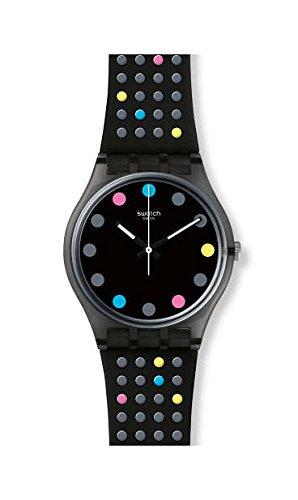 Swatch Boule A Facette Black Dial Ladies Watch GB305