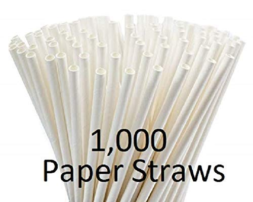 Earth Friendly 1000 Count Biodegradable Straws White Paper Dye-Free Individually Wrapped Compostable Premium Bulk Perfect for Restaurants Convenience Stores Bars and Cafeterias