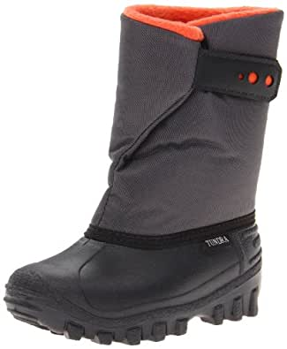 Tundra Teddy Boot,Black/Charcoal/Orange,4 M US Toddler