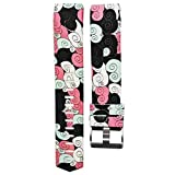 Fashion Clearance! Noopvan for Fitbit Charge 2 Straps Replacement Bands Adjustable Accessory Wristbands for Fitbit Charge 2 Large Small Variety of Colors Patterns (F)