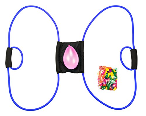 Water Balloon Launcher 500 Yards by Captain Splash, 3 Person Slingshot Cannon Catapult, 150 FREE Water Balloons & Carry Case Included (Blue, Extra Strong Latex Sling) 2019 Edition. Outdoor Games by Vivorr (Image #3)