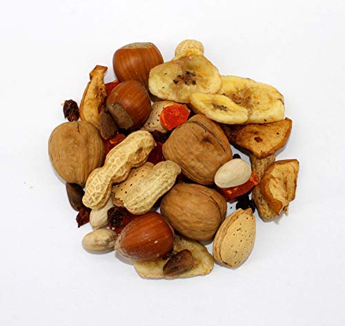 Sweet Harvest Fruit & Nut Mix Treat, 4.0 Oz Bag - Real Fruit and Nuts for Birds - Cockatiels, Parrots, Macaws, Conures