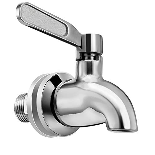Vila Beverage Dispenser Replacement Spigot - Stainless Steel Rust-free Spout - Easy Installation under 10-Minutes - Excellent Continuous Flow - Sturdy, Stylish Alternative for Flimsy Plastic Taps