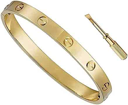 Byqone Love Bracelet, Screw Bracelet, 18k Titanium Steel Bracelet, Buckle Bangle Bracelet with Screwdriver