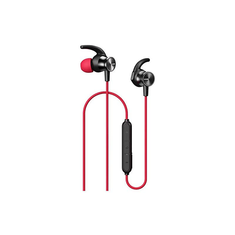 Coosii S7 Bluetooth Headphones Wireless In Ear Earbuds With Mic And Magnetic Connection Sweatproof Earphones For Cell Phones Sport Running Workout Gym Red 2020 Reviews Whydis
