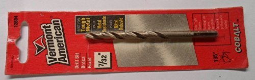 - Vermont American 12664 Cobalt Drill Bit, 7/32-Inch by 3-3/4-Inch by Vermont American