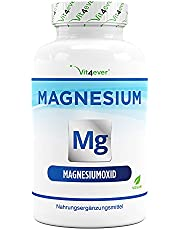 Magnesium - 365 capsules (12 maanden) - 665 mg per capsule, waarvan 400 mg elementair magnesium - Hooggedoseerd - Zonder ongewenste toevoegingen - Veganistisch