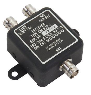 D&M/Edo Dm H22-1 Diplexer/Single Vor/Single Gs/Bnc Connector