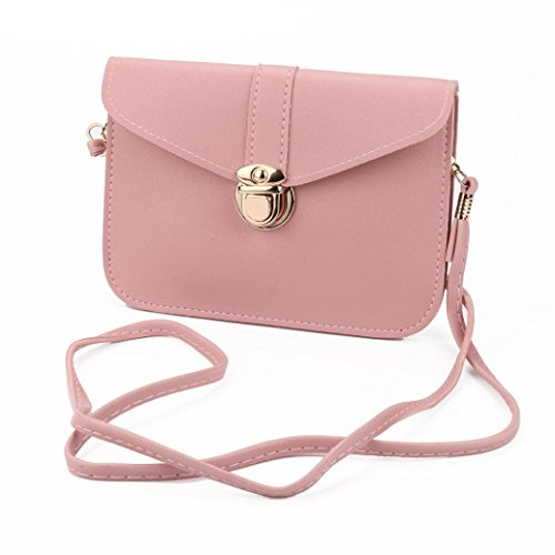 YJYDADA Bag,Fashion Zero Purse Bag Leather Handbag Single Shoulder Messenger Phone Bag (C)