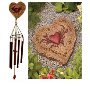 Stepping Stone and Windchime Set – Heart Review