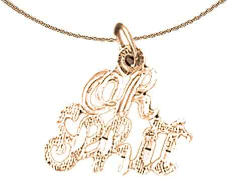 14K Yellow Gold-plated 925 Silver #1 Diver Pendant with 18 Necklace Jewels Obsession #1 Diver Necklace