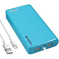 LQM 20000mAh Dual USB External Battery Backup Power Bank...