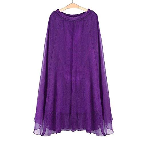 a285580ef924b0 OverDose 2018 Frauen Elastisches Taillen Chiffon Langes Maxi-Strand-Kleid  Petticoat Vintage Retro Reifrock