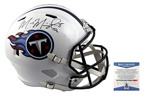 Marcus Mariota Autographed SIGNED Tennessee Titans Full Size Speed Rep Helmet - (Rep Helmet)