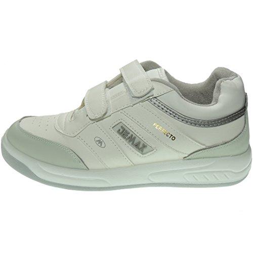 P802 Deportivo DEMAX Cómodas para Dm Anchas Hombre Blanco Velcro Sneaker Modelo Cierre FTzZq