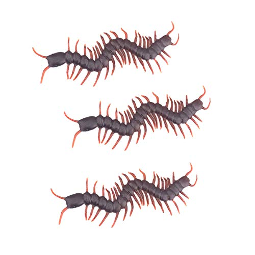 Insect Toy - 3pcs Funny Simulation Toy Centipede Scorpion Cockroach Gecko Ant Tb - Party Decorations Party Decorations Cosplay Gecko Cartoon Halloween Mask Prop Plastic Character Decor Li]()