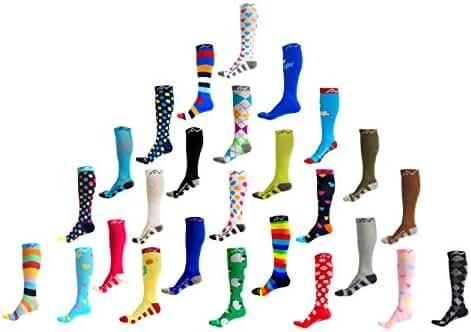 Compression Socks (1 pair) for Women & Men by A-Swift - Best For Running, Athletic Sports, Crossfit, Flight Travel - Suits Nurses, Maternity Pregnancy, Shin Splints - Below Knee High