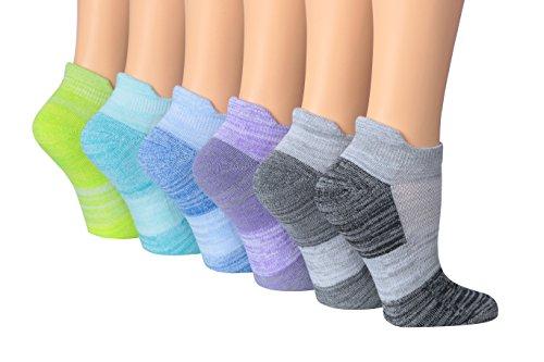 Ronnox Women's 6-Pairs Low Cut Running & Athletic Performance Tab Socks