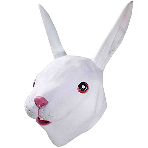 Deluxe Latex Mask - Novelty Animal Latex Head Mask by Funny Party Hats (Rabbit)