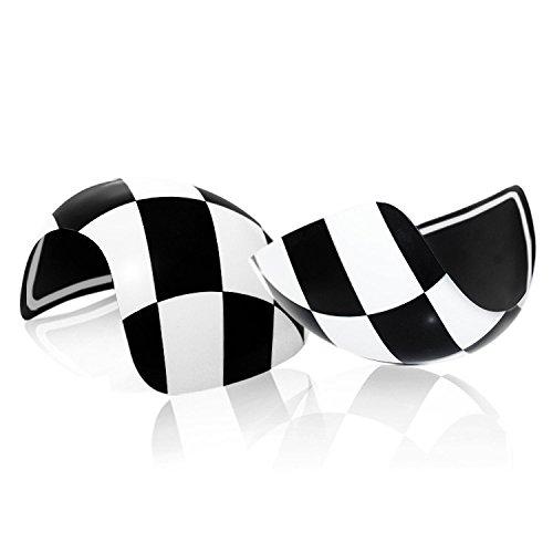 YaaGoo MK2 c/ôt/é de r/étroviseur ext/érieur manuel Miroir Housse Coque Casquette Checker