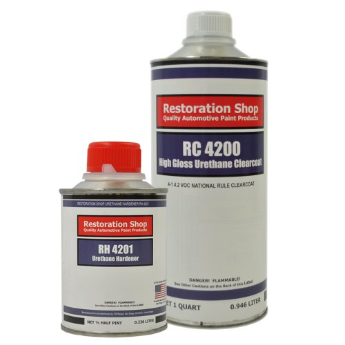 Restoration Shop 4.2 VOC High Gloss Urethane Clear Quart Kit with Hardener