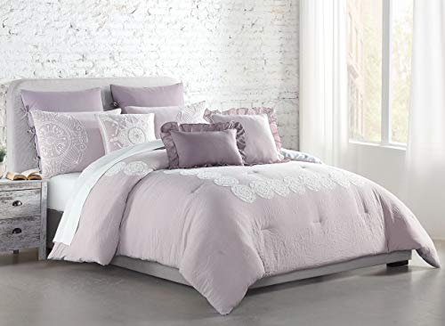 8 Piece Woodward Blush Comforter Set Cal King