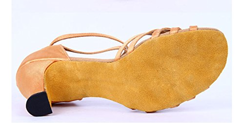 Nude Straps Tango Satin Dance Party toe Women Shoes Classic 6 for Latin Salsa Peep Ofqxww5gF