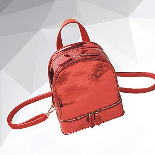 rood student pu Koreaanse stijl rugzak 1pc voor holografische schooltas tieners 8wUzxEqxd