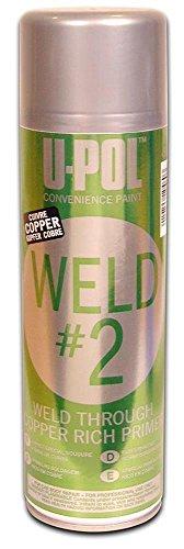 U-Pol Products 0768 Zinc/Copper WELD#2 Weld Through Primer - 450ml by U-Pol (Image #1)