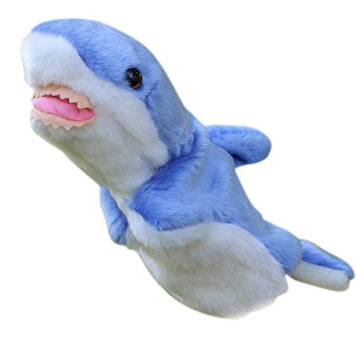 Happy Cherry Kids Puzzle Toys Story Game Education Props Baby Toys Shark Plush Hand Puppet Toys Sea Animal Hand Dolls- Blue by Happy Cherry