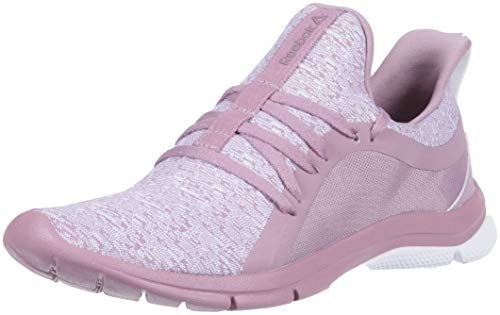 Reebok Women's Print Her 3.0 Running Shoe, KNT-Infused Lilac/Lavender Leather, 10.5 M US