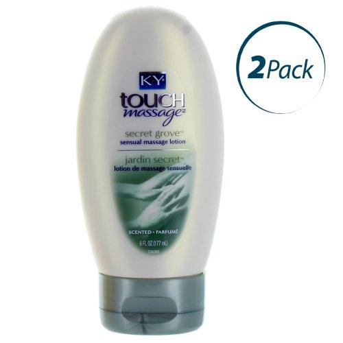 KY Touch Massage Sensuel Lotion de massage, du bosquet secret, 6 onces chacune (Pack de 2)