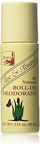 Alvera All Natural Roll-On Deodorant Aloe & Almonds - 3 Fl Oz, 4 ()