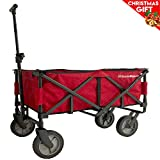 EasyGoWagon 2.0 – Red Folding Wagon - Collapsible Heavy Duty Utility Pull Wagon - Fits in Trunk of Standard Car