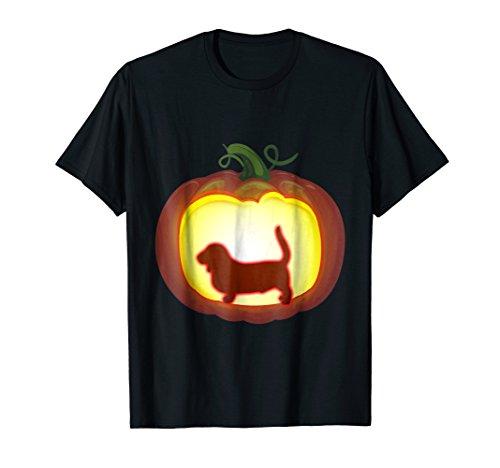 Pumpkin Lantern Basset T-Shirt Halloween Costume Dog (Funny Homemade Dog Halloween Costumes)