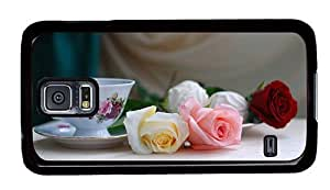 Hipster online Samsung Galaxy S5 Case Roses Tea PC Black for Samsung S5 by ruishername