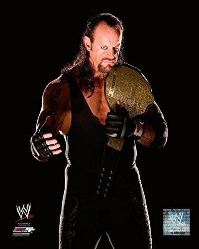 "The Undertaker WWE Posed Studio Championship Belt Photo (Size: 8"" x 10"")"