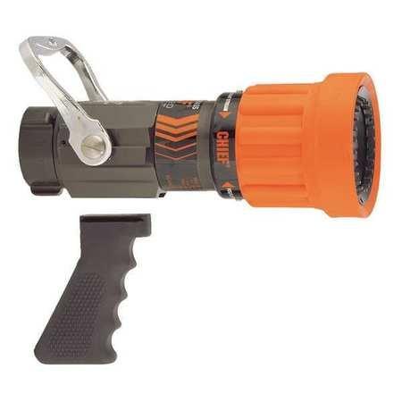 Fire Hose Nozzle, 1-1/2 In., Orange
